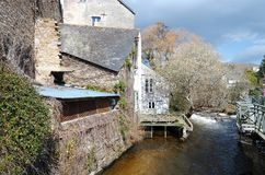 Village and river of Pont Aven Stock Image