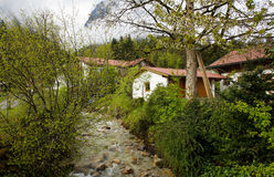 Village on the river Royalty Free Stock Photography