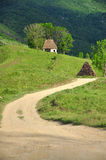 Village Road In The Mountains Royalty Free Stock Image