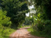 Village road in Thailand Royalty Free Stock Photography