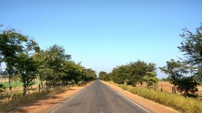 Village road. Traveling On the way to village mungeli Royalty Free Stock Photos