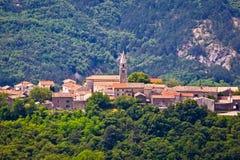 Village of Roc in istrian inland Stock Photo