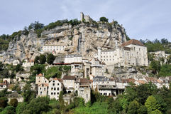 The village of Rocamadour (France) Royalty Free Stock Photo