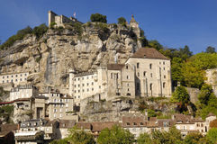 Village of Rocamadour in Midi-Pyrenees, France Royalty Free Stock Photos