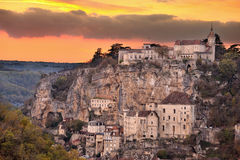 Village of Rocamadour three Royalty Free Stock Photos