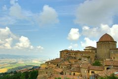 Village on the rocks, Italy Royalty Free Stock Photos