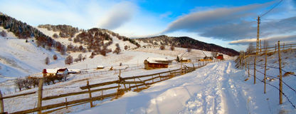Village in Romania Stock Images