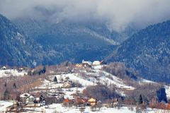Village in Romania royalty free stock image
