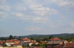 Village rooftops Royalty Free Stock Image