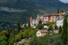 The village of Roquebrune Stock Image