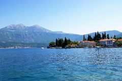 The village of Rose. Small coastal village  of Rose in Montenegro (Lustica peninsula Royalty Free Stock Image