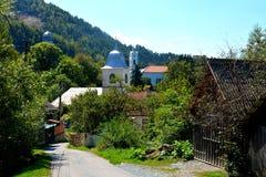 Village Rosia Montana - vieille mine d'or romaine Rosia Montana, la Transylvanie Image stock