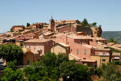 Village Roussillon in France Royalty Free Stock Photos