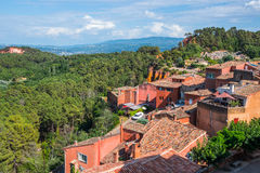 The Village of Roussillon, Provence (France) Stock Photo