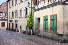 Village in route du vin, Alsace Royalty Free Stock Images