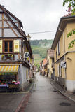 Village in route du vin, Alsace Royalty Free Stock Photos