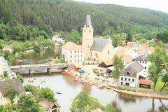Village Rozmberk Stock Images