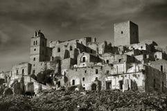 Village ruiné de Craco Photographie stock