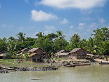 Village rural dans Myanmar Photo libre de droits
