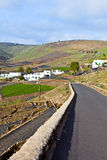 Village in rural hilly area in Lanzarote Stock Images