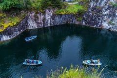 Village Ruskeala, Sortavala, Republic of Karelia, Russia, August 14, 2016: Mountain Park Stock Photography