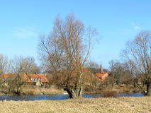 Village Rusne, Lithuania Royalty Free Stock Images