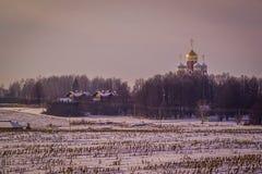 Village russe dans la région de Kaluga Images libres de droits