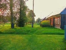 Village russe dans la région de Kaluga Photos libres de droits