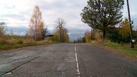 Village russe en automne banque de vidéos