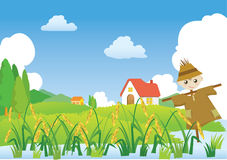 Village's scarecrow Royalty Free Stock Photography