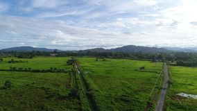 Village Sabah Malaysia de Tuaran banque de vidéos