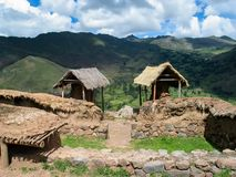 Village at Sacred valley in Peru Stock Photo