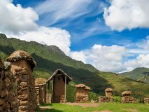 Village at Sacred valley in Peru Royalty Free Stock Photography