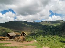 Village at Sacred valley in Peru Stock Photography