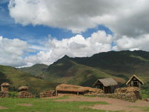 Village at Sacred valley in Peru Stock Images
