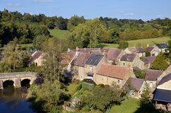 Village of Saint-Ceneri-le-Gerei in France Royalty Free Stock Photos