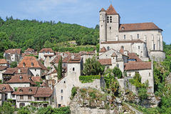 The village of Saint-Cirq Lapopie Royalty Free Stock Photo