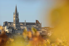 Village of Saint-Emilion-Vineyard Stock Images
