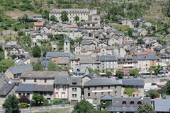 Village of Saint Enimie in Gorges du Tarn or Tarn canyon, France Stock Photos