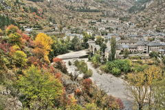 Village of Saint Enimie in Gorges du Tarn or Tarn canyon, France Stock Photography