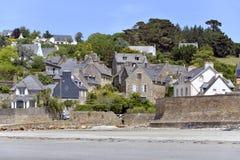 Village Saint-Michel-en-Grève in France Stock Images