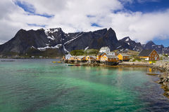 Village Sakrisoy on Lofoten Stock Images