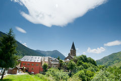 Village of Salardu Spanish Pyrenees Stock Photos