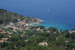The village of San Andrea on the coasast of Elba i. The village of San Andrea on the coast of Elba island, Italy Royalty Free Stock Images