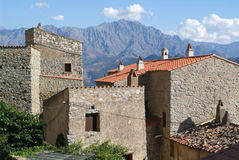 The village of San Antonio on Corsica island Royalty Free Stock Photos