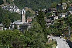 The village of San Bartolomeo on Verzasca valley Royalty Free Stock Photos