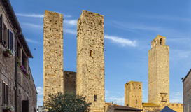 Village of San Gimignano Stock Photo