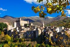Village San gregorio da sassola, Lazio, Italy Stock Photo
