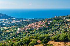 Village of Sant`Antonino in Corsica France Stock Photography