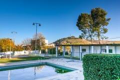The village of Santa Barbara Stock Images